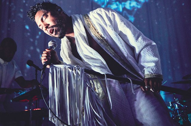 Miguel performs songs from his new LP at an album release party, held at Red Bull Studios in Santa Monica, CA, USA on 15 June, 2015. // Koury Angelo / Red Bull Content Pool // P-20150616-00225 // Usage for editorial use only // Please go to www.redbullcontentpool.com for further information. //