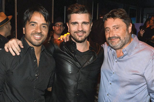 MIAMI, FL - APRIL 25: Luis Fonsi, Juanes and Jesus Lopez attends Universal Music Hennessy after party to celebrate Latin Billboard Awards at Bamboo Miami on April 25, 2014 in Miami, Florida. (Photo by Manny Hernandez/Getty Images)